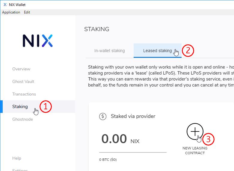 NIX Leased Proof of Stake at nix snailbarf org